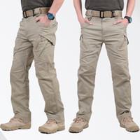 hombres pantalones casuales militares al por mayor-Venta caliente IX9 Pantalones tácticos de los hombres Pantalones de combate SWAT Pantalones militares del ejército Hombres Pantalones de carga para hombres Pantalones casuales de estilo militar