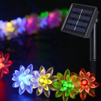 Wholesale lotus outdoor lighting - Outdoor strip lights Rose Lotus Peach blossom LED strip christmas light holiday decoration LED fairy garden lights