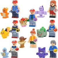 Wholesale Mini Model Building - Cartoon Cute Building Blocks Educational Sets Models Toys For Children Mini action figures Bricks christmas gifts