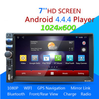 2 Din Android 4.44 Auto DVD Spieler GPS + Wifi Bluetooth Radio + Lenkrad Steuerung 1.6G Dual-Core Multimedia Auto Stereo Player