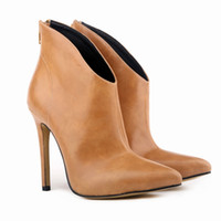 Wholesale Womens High Heel Platforms - Wholesale-WOMENS FAUXLEATHER HIGH STILETTO HEELs PLATFORM ANKLE BOOTS SHOES US4-11 LADIES 769-1YP