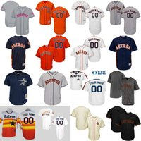 Wholesale Personalize Logo - Mens Womens Youth Houston Astros Personalized Authentic Collection Customized Stitched Embroidery Logos Baseball Jerseys Mix Order Wholesale