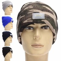 Wholesale spring angle resale online - Winter Warm Beanies Hat LED Light Sports Beanie Cap Angling Hunting Camping Running Hats Unisex Beanies Cap LED hip hop hat