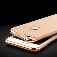 Cheap 3 in 1 Case Matte Frosted Plating Electroplating Slim Shockproof Full Protector Housse en plastique rigide pour iPhone 8 7 Plus 6 6S
