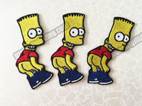 Wholesale sew embroidery patches - Fashion Embroidery Simp sons Cartoon Patch Embroidered Iron On Sew On Patches DIY Applique Embroidery Patch Wholesale Free Shipping