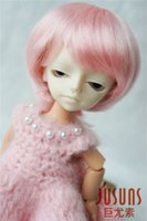 Wholesale Short Bjd Wig - 1 12 tiny doll wigs 4-5 inch Enfant Short BJD wigs Synthetic Mohair doll accessories