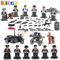 Wholesale Mini Worlds - 2017 WW2 World War 2 German Leibstandarte SS AH Panzer Division Guard Army Military Building Blocks Collection Mini Toy Figures Schutzstaffe