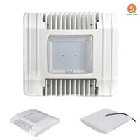 Wholesale Workshop Ceiling Light - DLC UL 130W 150W Gas Station lighting Led Low Canopy light Commerical lighting Ceiling light Meanwell driver 90-277V 110lm W stock in USA