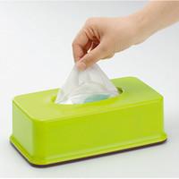 ingrosso scatola di tovagliolo di plastica-All'ingrosso- Giappone Inomata elegante semplicità plastica tissuecassette scatola di immagazzinaggio portatovagliolo