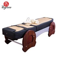 healthcare sales achat en gros de-BYRIVER Factory Direct Vente Premium Healthcare Jade Stone Therapy Massage Bed Avec Inclinaison Et Déclencher Fonction Massager