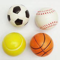 Wholesale Toy Wholesale Tennis Training - Sponge Ball Toys Football Basketball Tennis Baseball PU Bouncy Ball Squeeze Stress Wrist Finger Training Balls Soft Sponge 6.3CM WX-T81