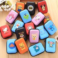 Wholesale Anime Earbuds - New High Quality Hard Earphone Bag Anime Storage Box For Earphone Headphone Earbuds SD Card Kawaii Cartoon Hold Case Storage Bag 100pcs
