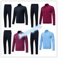 Wholesale Thai Quality Free Shipping - top thai quality soccer jackets survetement kits 2017 2018 KUN AGUERO DE BRUYNE G.JESUS SILVA tracksuit jacketS Sweatshirt free shipping