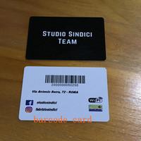 чистые визитные карточки оптовых-двусторонняя печать визитных карточек ID-карты матовый прозрачный ПВХ жесткий бумажный пакет 200 пользовательских ваш логотип