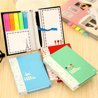 Wholesale Note Pads Pen - 2 Sets Scratch Pad With Pen Creative Notes Sticky Notes Free Stickers Schedule Paper Nootbook Stationery Christmas Gift Prize Papelaria