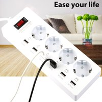 Wholesale Electrical Surge - ccessories Parts Electrical Socket Plugs Adaptors DBPOWER 4 AC Power Sockets & 6 USB Power Strip Surge Protected Extension Lead Outle...