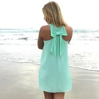 Wholesale Dresses Sommer - Wholesale- Summer kleid 2016 neue frauen casual kleid Mint Green chiffon sommer stil Zur&uuml Sleeveless Beach dress