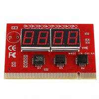 Wholesale Motherboard Test Diagnostic - Computer Motherboard LED 4 Digit Analysis Diagnostic Testing POST Card PCI for Desktop and Laptop PC Test Cards