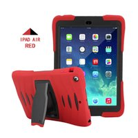 Wholesale New Ipad Screen Protector - Hybrid Rugged Silicone Stand Cover for New iPad Min 2017 1 2 3 4 5 6 Air Air2 Pro 9.7 10.5 Armor Shockproof Case with Screen Protector