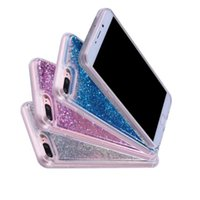 Wholesale Case For Star A3 - Liquid Quicksand TPU Soft Case For IPhone X 8 7 6 6S Plus 5 5S SE Galaxy S7 Edge S8 A3 A5 2017 Huawei P8 Lite P10 Star Bling Diamond Cover
