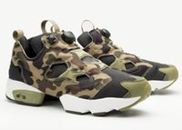 Wholesale Cheap Blue Pumps - Wholesale Cheap Price Boots Insta Pump Fury shoes Casual shoes Men Outdoor Boost Training Sneaker Shoes Shipped with box DHL Free Shipping
