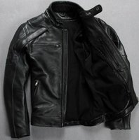 Wholesale Best Leather Jackets Sell - HARLEY Men's leather jacket best selling popular COOL skull men's leather motorcycle leather jacket limited short black coat