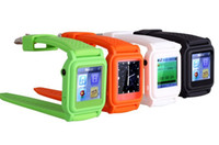 ebook mp4 player al por mayor-Student Watch mp4 watch con 4 / 8GB de memoria 10 Line TXT Ebook Exam Cheating Watch Reproductor de video musical multilingüe Foto en caja minorista