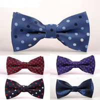 Wholesale New Bow Ties - GUSLESON New Design Mens Bow Tie Brand Male Polka Dot Bowtie Necktie Business Wedding Neckties Bowtie Vestidos Gravata Borboleta