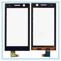 Wholesale Touch Screen Xperia U - High Quality Black Front Touch Screen Panel Glass Lens with Digitizer Replacement For Sony Ericsson Xperia U ST25 ST25i Free Shipping