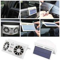 Wholesale Solar Conditioner - Solar Powered Auto Car Window Air Vent Ventilator Mini Air Conditioner Cool Fan