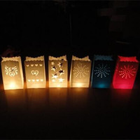 Wholesale Wedding decoration DIY manual paper Lantern BBQ Party Festival decoration candle candle bag with candle cm