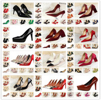 Wholesale champagne wedding wedge shoes - Wholesale 2017 New Factory 216 Style Woman Pumps Sexy High Heels Wedding Patent Leather Heeled Party Shoes Size
