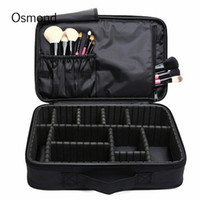 Wholesale Make Up Art Box - Wholesale- Makeup Brush Bag Case Make Up Organizer Toiletry Bag Storage Cosmetic Bag Large Nail Art Tool Boxes With Portable Bolso