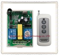 Wholesale Ch Switches - Wholesale- New AC 220V 2 CH 2CH RF Wireless Remote Control Motor Positive &negative Switch System 1X Transmitter +1 X Receiver,315 433 MHZ