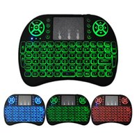 Wholesale Bluetooth Keyboard Wireless Tv - Rii I8 Fly Air Mouse Remote Backlight 2.4GHz Wireless Bluetooth Keyboard Remote Control For S905X S912 TV Box X96 T95