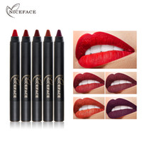 Wholesale new make up brands online - 15Colors Cosmetics Matte Lipstick Pen Gloss Lip Make Up Lips Crayons Long Lasting Nude Women Waterproof Lipsticks New Brand Niceface