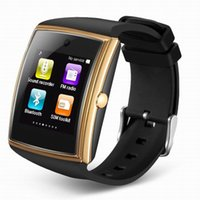 Wholesale Gsm Waterproof - New LG518 Metal+TPU Bluetooth3.0 Smart watch Touch Screen NFC Bracelet Watch GSM SIM card for IOS Android Best Christmas Gift