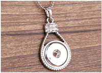 Wholesale Rhinestone Locks - Noosa Snap Jewelry Alloy Pendant with Rhinestone Interchangeable Lock Shape DIY Europe Chunks Necklace fit 18MM Button Wholesale