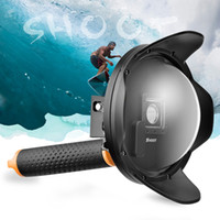 """Wholesale Action Shot Waterproof - SHOOT 6"""" Dome Port with Sunshade Original Waterproof Housing Case For Sports Action Camera + Suit With Floatly Grip Accessories"""