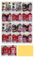 Wholesale Hawking Orange - Stitched NHL CHICAGO BLACK HAWKS 28 30 21 MIKITA 27 ROENICK  White Red Black throwback Hockey Jerseys Ice Jersey do Drop Shipping,Mix Order