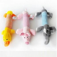 Wholesale Elephant Toys - Brand New Puppy Dog Chew Squeaker Squeaky Plush Sound Pig Elephant Duck For Dog Sound Toy Teethers Cotton Materia 20PCS LOT