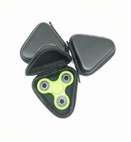 Wholesale triangle fidget spinner online - Triangle EVA Cases Waterproof Fidget Spinner Boxes Multi Function Container Case For Hand Spinner Bags Portable