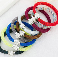 Wholesale Clay Tube Bead - Best gift Popular network tube diamond crystal single layer star bracelet FB097 mix order 20 pieces a lot Charm Bracelets