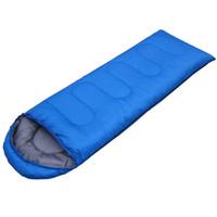 sac de couchage momie extérieur achat en gros de-En gros- (190 + 30) * 75cm Outdoor 4 saisons imperméable à l'eau Camping Ultra-léger Portable Aadult Mummy Type Sac de couchage en coton creux