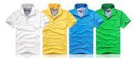 Wholesale turndown collar - New Arrive solid Turndown collar Brand 2017 Shirt Men Short Sleeve Casual Shirts Man's Shirt Plus size 6XL Polo20color #930