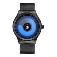 Wholesale Mesh Watches - TWINCITY luxury Novel cool Watch Men stylish Relogio Masculino Men's Watch Stainless Steel Mesh Band Quartz Wristwatch casual watches