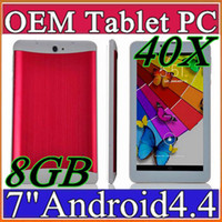 """Wholesale pcs gsm - 40X 7"""" 3G Phablet Phone Calling Tablet PC 8GB MTK6572 Dual Core Android 4.4 Capacitive Touch WCDMA GSM Bluetooth Camera Dual Sim Card B-7PB"""