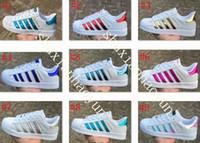 Wholesale Super D - Style Spring and Autumn Fashion Men Women Original Superstar Super Shoes Golden Drop Shipping Size 36-44 Skateboarding Shoes Flat Shoe