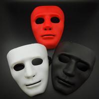 máscara azul verde preta venda por atacado-Festa de Halloween Máscaras de Rosto Completo Masquerade Homens Bboy Hip-hop Máscaras de PVC JabbaWo Rua Máscaras de Rosto Vermelho Preto Branco Azul Verde