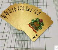 Wholesale 24K Gold Foil Plated Poker Card Playing Card Game High grade Sports Leisure Game Poker Card Gift Table Games